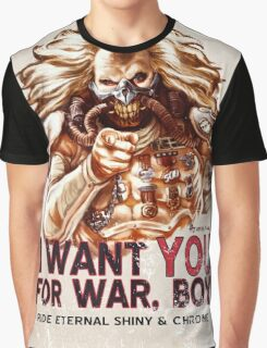I Want YOU for WAR, BOY (dark colors) Graphic T-Shirt
