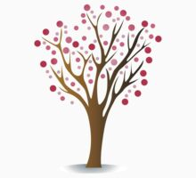 Pink tree Kids Tee