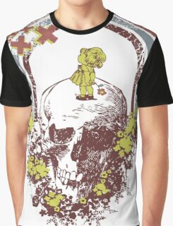 Skull With Kid Design T-Shirt Graphic T-Shirt