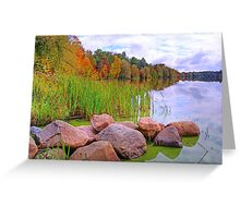 Rib Lake,Wisconsin U.S.A. Greeting Card
