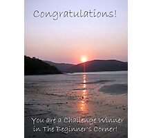 Beginner's Corner Challenge Banner Photographic Print