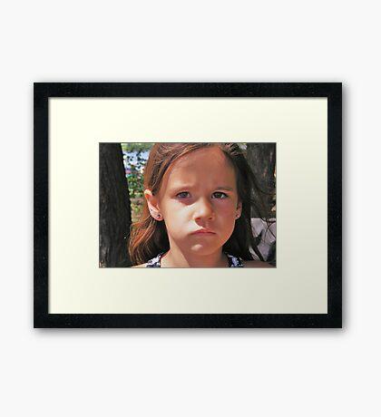 Sad Mouth Mia Framed Print