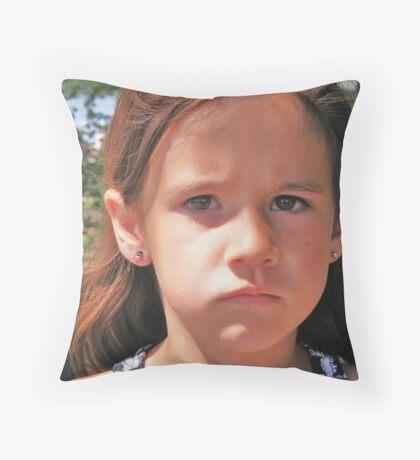Sad Mouth Mia Throw Pillow