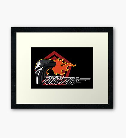 Caprica City Toasters Framed Print