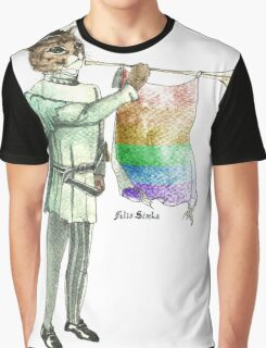 Rainbow Cat Graphic T-Shirt