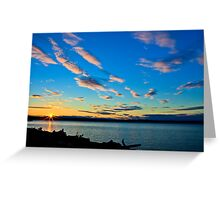 Sunset over Kayak Point Greeting Card