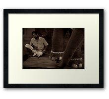Lakshmi and her Mahout Framed Print