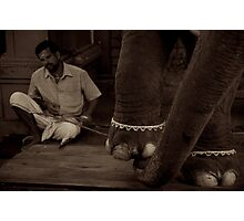 Lakshmi and her Mahout Photographic Print