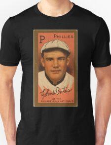 Benjamin K Edwards Collection John W Bates Philadelphia Phillies baseball card portrait T-Shirt