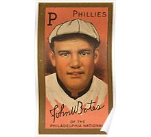 Benjamin K Edwards Collection John W Bates Philadelphia Phillies baseball card portrait Poster