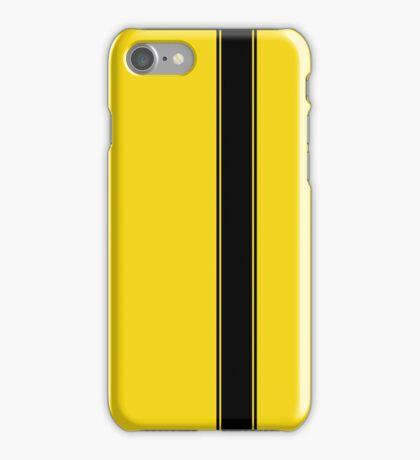 Racing Stripe - Black on Yellow iPhone Case/Skin