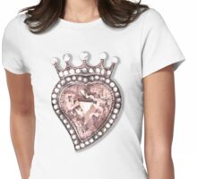 Beloved Pearly Heart Womens Fitted T-Shirt
