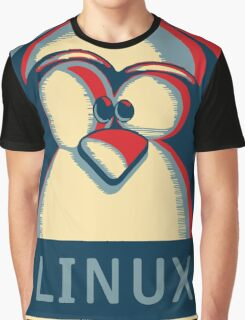 Linux tux penguin obama poster logo Graphic T-Shirt