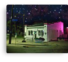 Architecture: Night Street Store Canvas Print