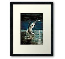 Moonlit Marlin Framed Print