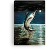 Moonlit Marlin Canvas Print
