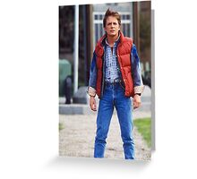 Marty Mcfly Back to the future Greeting Card