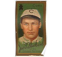 Benjamin K Edwards Collection James T Sheckard Chicago Cubs baseball card portrait Poster