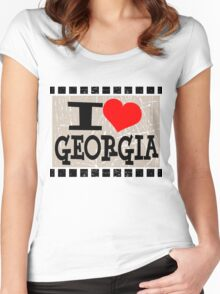 I love Georgia Women's Fitted Scoop T-Shirt