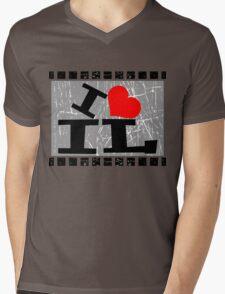 I love Illinois Mens V-Neck T-Shirt