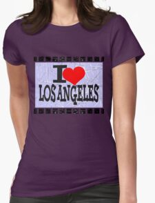 I love Los Angeles Womens Fitted T-Shirt