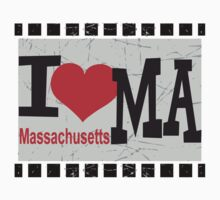 I love Massachusetts Baby Tee