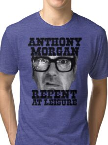 Anthony Morgan - Repent At Leisure (Black) Tri-blend T-Shirt