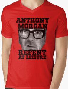 Anthony Morgan - Repent At Leisure (Black) Mens V-Neck T-Shirt