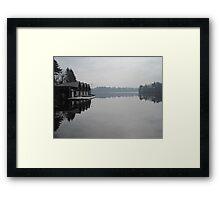 Reflections on lake Waban # 2 Framed Print