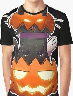 Jack O' Lantern Cat Graphic T-Shirt