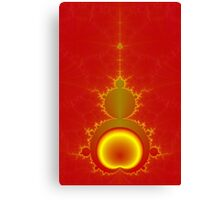 Mandelbrot in Red and Yellow Canvas Print