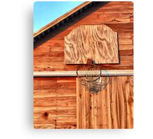 Barn Hoops Canvas Print