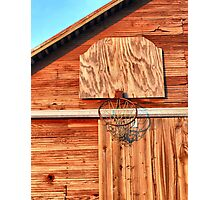 Barn Hoops Photographic Print