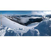 Snowman's Paradise Photographic Print