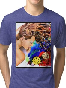 Asleep in the Garden Tri-blend T-Shirt