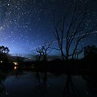 Space Station Meets Comet Lovejoy by Wayne England