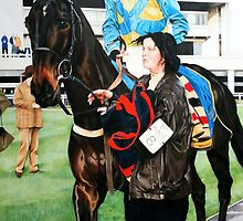 Richard Dunwoody at Sandown Park by samcannonart