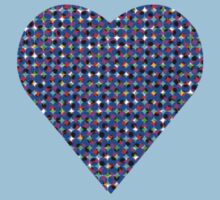 halftone heartblue Kids Clothes