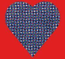 halftone heartblue Kids Clothes