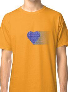 halftone heartblue fade Classic T-Shirt