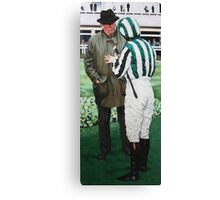 Green Stripey Silks Canvas Print