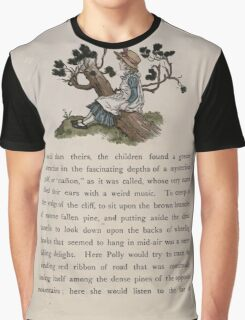 The Queen of Pirate Isle Bret Harte, Edmund Evans, Kate Greenaway 1886 0025 On a Log Graphic T-Shirt