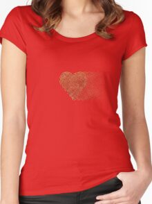 halftone heartfade Women's Fitted Scoop T-Shirt