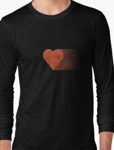 halftone heartfade Long Sleeve T-Shirt