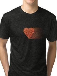halftone heartfade Tri-blend T-Shirt