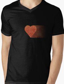 halftone heartfade Mens V-Neck T-Shirt