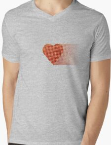 halftone heartfade Mens V-Neck T-Shirt