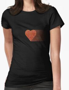 halftone heartfade Womens Fitted T-Shirt