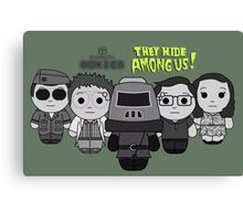 They Hide Among Us! - Black Box Films: BOXIES Canvas Print