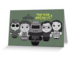They Hide Among Us! - Black Box Films: BOXIES Greeting Card
